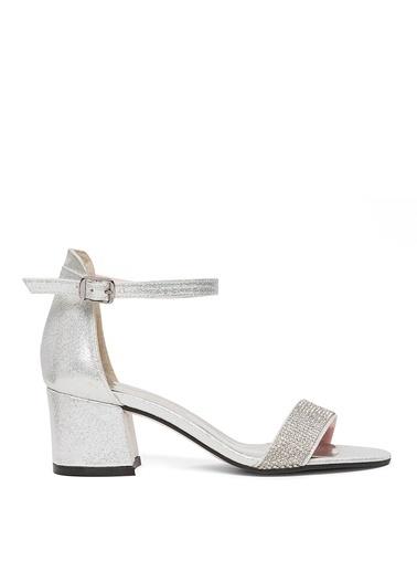Sole Sisters Kısa Topuklu Sandalet Gümüş - Narez2 Gri